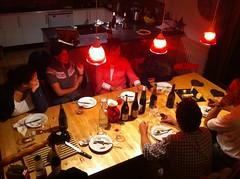 Chalet Deux Freres dinner time