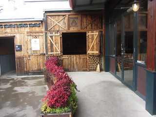 The entrance to an Austrian Coffee Shop, Das Kaffeehaus, The Mill, Castlemaine.