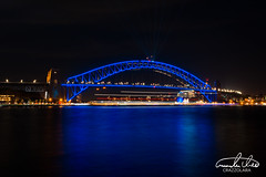 Sydney Harbour Bridge (Theo Crazzolara) Tags: sydney harbour bridge sydneyharbourbridge harbourbridge night ligh vivid vividsydney australia australien traveling journey backpacking
