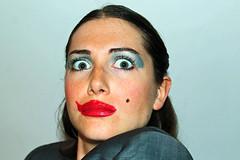 MONAT DER PHOTOGRAPHY OFF / BERLIN 2018 (Anne-Sophie Landou) Tags: selfie selfportrait portrait woman womanportrait makeup egoshooters show berlin absurd annesophielandou
