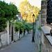 Quartier de la Mouzaïa - Un chat, un lampadaire et des maisons (Villa Alexandre Ribot)