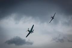 Me 109 and P-51 Mustang at Bray Air Show 2018 (clnbtlr_irl) Tags: aircraft plane brayairshow2018 p51 mustang messerschmitt bf109 me109 brayairshow