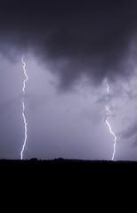 Double Lighting (Anthony Fedz) Tags: landscape thunder lighting rain rayo sky night light storm nikond3100
