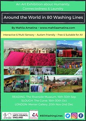 Flashback time! Wow, one year ago exactly, 'Around the World in 80 Washing Lines' launched in Reading! WHAT an exhibition and journey that was! Humanity, laundry and a whole lot more... #80WashingLines #rdguk #artexhibition #autismawareness #multisensorya (www.mahliaamatina.com) Tags: abstract art relaxing mindful vibrant painting painter artist colourist nepal impressionism abstraction notional occult philosophical profound recondite separate existential healing magic