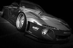 SLANT (Dave GRR) Tags: porsche 911 slant nose ea carsncoffee toronto auto show 2018 monochrome mono bw olympus widebody bodykit sportscar