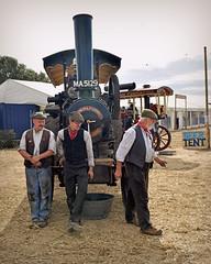 Three Steamers... (Harleynik Rides Again.) Tags: beertent steamengine men steamers 3 tractionengine steam harleynikridesagain