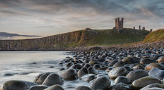Dunstanburgh Castle (jasty78) Tags: dunstanburghcastle castle ruin sunrise gold goldenhour rocks seascape landscape longexposure smoke water dunstanburgh craster embleton northumberland england nikond7200 sigma350mmf14 sea waves scenery light sun morning