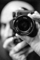 GSCF7774 (Deepak Kaw) Tags: mitakon35mm fujifilm monochrome selfportrait bokeh blackwhite composition lens