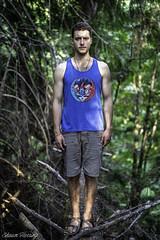Balance (Shawn Herring) Tags: male man model forest trees tree blue green branches balance shawn herring sony a7 iii a7iii bokeh depth field kitsap penisula