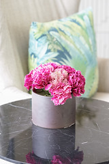 Artificial pink flower. A fake magenta pink flower for interior home decoration with window light. (enchanted.fairy) Tags: arrangement artificial background beautiful beauty bloom bouquet bunch color colorful decor decoration decorative design desk fabric fake flora floral flower gift green home house indoor interior luxury magenta makeover modern natural nature ornament pastel petal pink plant pot room rose silk style table vase vibrant vintage wall wedding white wooden
