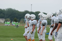 _G1A5941 (bubbaonthenet) Tags: 08232018 practice 6 stma community education 6th grade youth tackle football team 1 white saint michael minnesota 2018 middle school sport sports