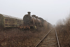 abandoned beauty (-Isabelle Van Assche-) Tags: abandoned abandonedbeauty architecture architectuur lost light lostplaces flickr forgotten train graveyard fog railway decay dust ehemalige exposure explore europe urbex urbanexploration urban