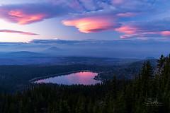 Sunset Love (TierraCosmos) Tags: threecreeklake threesisterswilderness lake lenticular clouds heartshape landscape sunset deschutesnationalforest forest valentine valentines reflection