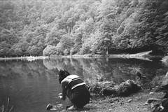 AA003 (Chloué) Tags: analogphotography analog ilford ilford400 ilfordhp5plus 35mm roadtrip france friend lake pyrenees pyrenées ariège reflection forest trees mountains nature