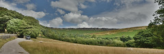 Footpath View (Bri_J) Tags: stanageedge peakdistrict nationalpark hathersage derbyshire uk countryside hdr nikon d7200 path view panorama sky clouds hill rocks