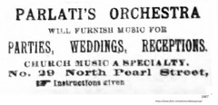 1887 parlati's orchestra   20 North Pearl (albany group archive) Tags: 1880s old albany ny vintage photos picture photo photograph history historic historical