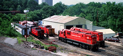 Morristown Shop Panorama (Erie Limited) Tags: me morristownerie alco c430 morristownnj train railfan railroad me17 me16