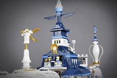 """Maersk Pier"" Detail (Markus ""madstopper78"" Ronge) Tags: steampunk legosteampunk legopotsdam legophotography legofan toyphotography toyphoto fullsteamlego netbrix afol airship moc lego"