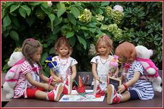 Kindergartenkinder ... Schule geht weiter ... (Kindergartenkinder 2018) Tags: kindergartenkinder anette himstedt dolls milina annemoni tivi sanrike