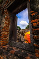 Window Faith (narenrit) Tags: window stone old wall architecture house view landscape sky building nature ancient rock door sea castle blue abandoned travel temple arch wood ruin brick mountain buddha buddhist history former