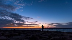 Stand Between the Clouds (Navaneeth Kishor) Tags: sunset sunsets clouds cloud horizon horizons sea ocean arabiansea ponnani kerala keralam beach beaches sun evening dawn vibrant india travel