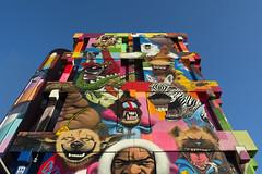 Painted building (Jan van der Wolf) Tags: map179210v zoetermeer painting painted building gebouw gevel facade colors colours kleuren streetwiseobject01 streetart mural hopmangebouw