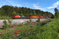 Q580-20 (Steve Hardin) Tags: locomotive engine crossing railroad railway railfan manifest freight train adairsville georgia cn canadiannational bnsf burlingtonnorthernsantafe kcs kansascitysouthern csx wa westernatlantic emd sd70m2 gp382 sd70mac es44dc