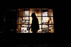 The old man and the cigars (iamunclefester) Tags: münchen munich street night dark cigar old man shopwindow shop lattice window latticewindow