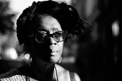 IMG_7274 (JetBlakInk) Tags: portrait candidportrait streetphotography pov women magichour shadows afro