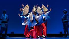 Awa-odori (byzanceblue) Tags: awaodori minamikoshigaya saitama japan japanese dance blue kimono stage woman people performance shadow light bright nikkor d850