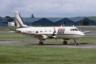 G-BRWN Grumman G159 Gulfstream I EGPK 1987