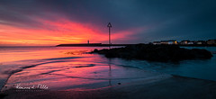 From The Slipway (RonnieLMills 5 Million Views. Thank You All :)) Tags: early morning colours sunrise dawn fiery red magenta orange sky reflections water donaghadee lighthouse harbour harbor county down northern ireland