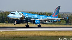 OO-SNC_1920_1080_001 (klm737900) Tags: brussels airlines oosnc airbus a320200 msn 1797 ex dalth vliegveld luchthaven plane airplane aircraft airport jet vliegtuig spotting landing arrival brussel zaventem ebbr belgium special colors scheme magritte painter