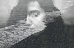 For whatever we lose (like a you or a me), it's always ourselves we find in the sea (Tamar Burduli) Tags: analog film color 35mm doubleexposure multipleexposure blackandwhite monochrome sea waves beach female portrait people woman selfportrait