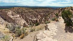 Canyon Overlook (6-image panorama) (Whidbey LVR) Tags: lyle rains lylerains olympus em5ii newmexico kashakatuwe tent rocks national monument cliff geology stitch stitched panorama hoodoo mushroom
