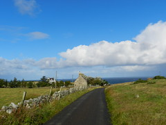 Welcome to Armadale, Sutherland, Sep 2018 (allanmaciver) Tags: armadale sutherland scotland north coast weather blue sky after rain fresh fence green clouds houses sea stone dyke allanmaciver