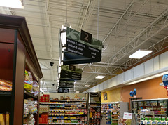 Aisle signs along the back aisle (l_dawg2000) Tags: 2012décor 2014remodel arlington bakery deli formermillenniumstore grocery grocerystore kroger naturalfoods pharmacy produce remodel remodeled retail tennessee tn wine unitedstates usa