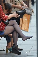 1210041920707b0c90211e0d36 (pantyhose crotch) Tags: candid pantyhose nylon tights stockings
