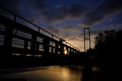 tridral_2018-10-19 (tridral) Tags: cymru wales caerdydd cardiff parcbute butepark afon river pont bridge machludhaul sunset