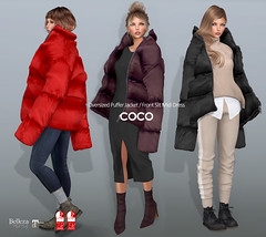 COCO New Release @Uber (cocoro Lemon) Tags: coco newrelease uber oversized puffer jacket dress secondlife fashion mesh maitreya slink belleza