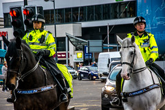 Mounted Police (Tony Shertila) Tags: jeanluccourcoult liverpooldream liverpoolsdream newbrighton royaldeluxe england liverpool britain europe giants marionettes merseyside puppets wirral ©2018tonysherratt unitedkingdom 20181004180956liverpooldreamgiantslr