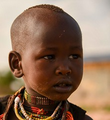 Little Hamar Girl (Rod Waddington) Tags: africa african afrique afrika äthiopien ethiopia ethiopian ethnic etiopia ethnicity ethiopie etiopian omovalley outdoor omo omoriver hamer hamar tribe traditional tribal culture cultural village girl child candid
