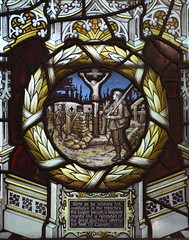 'as he relieves his comrades in the trenches, the soldier passeth a wayside crucifix and is reminded of the Great Sacrifice' (Kempe & Co, 1919) (Simon_K) Tags: brampton cambridgeshire cambs huntingdon huntingdonshire hunts eastanglia