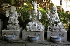 Japan: Miyajima, Daisho-in monk statues (Henk Binnendijk) Tags: daishointemple miyajimaisland hatsukaichi hiroshima japan buddha monk statue shrine