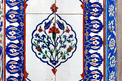 TILE00256 (NORTHERNLIGHTS IMAGES) Tags: tile pattern background islamic floral turkish design blue iznik illustration ceramic decoration art traditional culture vintage islam seamless wallpaper oriental decor old white arabic ornamental architecture ottoman ornament decorative istanbul flower antique red mosque ornate turquoise vector texture tulip beautiful turkey abstract element morocco black green retro motif arabesque east