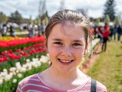 My daughter Karla (smjbk) Tags: tulips victoria australia tesselaartulipfestival tulipfestival silvan flowers smjbk tulip