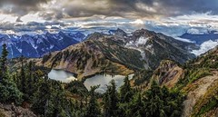 Twin Lakes from Winchester Mountain, North Cascades (i8seattle) Tags: twinlakes winchestermountainlookout winchestermountain northcascades