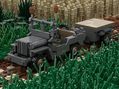 Render (Falsher_) Tags: lego ww2 jeep usa