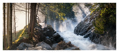 Lenk im Simmental (Krzysztof Mikulski) Tags: summer sun rays mist fog waterfall mountains alps swiss tree woodland forest river water stream rocks national park switzerland sunrise drops panorama sony ilce a7rii mk2 sigma 100 400 canon adapter manfrotto 055 x pro b