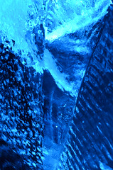 Rought cut (DJ Axis) Tags: cristaux rock crystal glass glace ice igloo fest sculpture bleu blue cubes stack empilade évènement happening extérieur hiver lights lumière spotlight outside winter festival froid surreal abstract people photo
